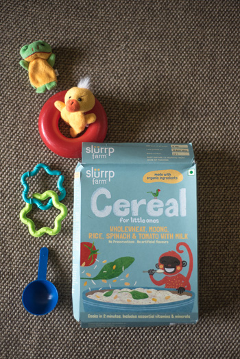 slurrp farm baby food with spinach tomato rive wholewheat rice