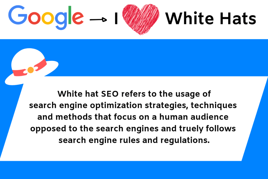 White hat SEO is something that Google likes.