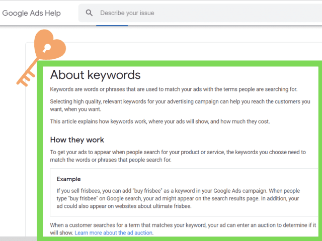 Google defining what keywords actually mean.