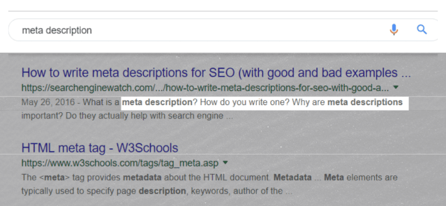 Use your targeted keywords or it's synonyms in the meta description.
