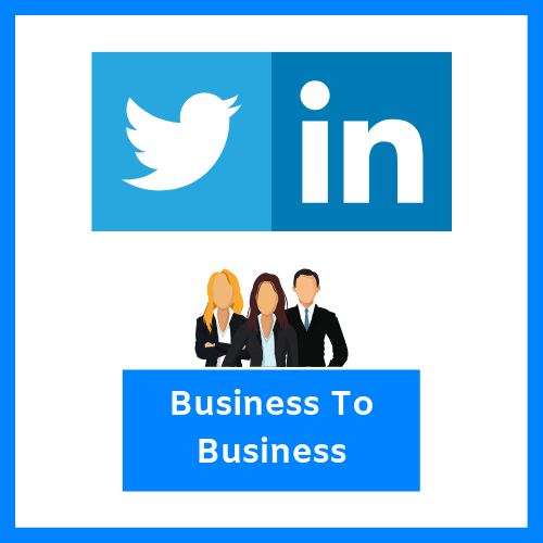 Linkedin and Twitter are best for B2B in social media marketing.