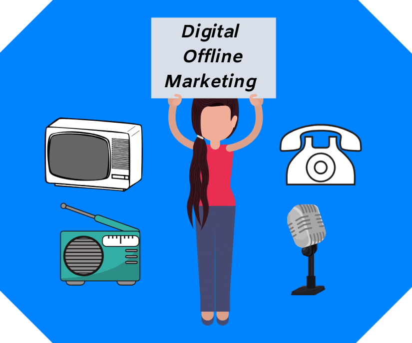 Offline digital marketing is a marketing that takes place with the internet.