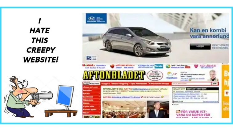 A website with to many ads looks absolutely weird.
