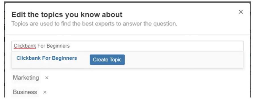 Creating topics.