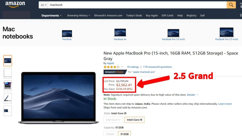 Product for Amazon Affiliate Marketing that costs 2.5 grand.