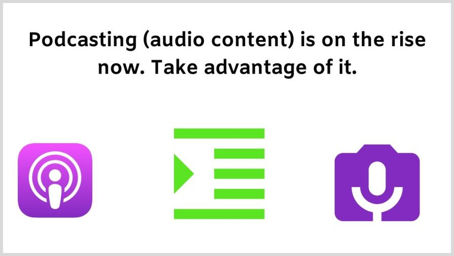 Are you doing podcasting for affiliate marketing.
