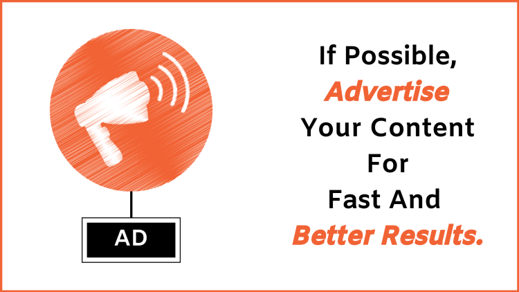 How to increase website traffic: advertise your content as much as possible if you can.