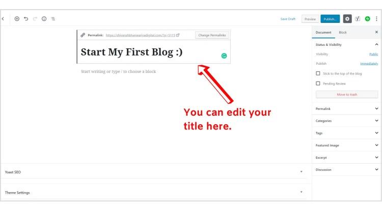 WordPress editor introduction.