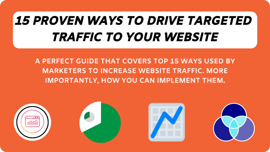 How to increase website traffic: Top 15 proven ways used by marketers to grow a website's traffic.