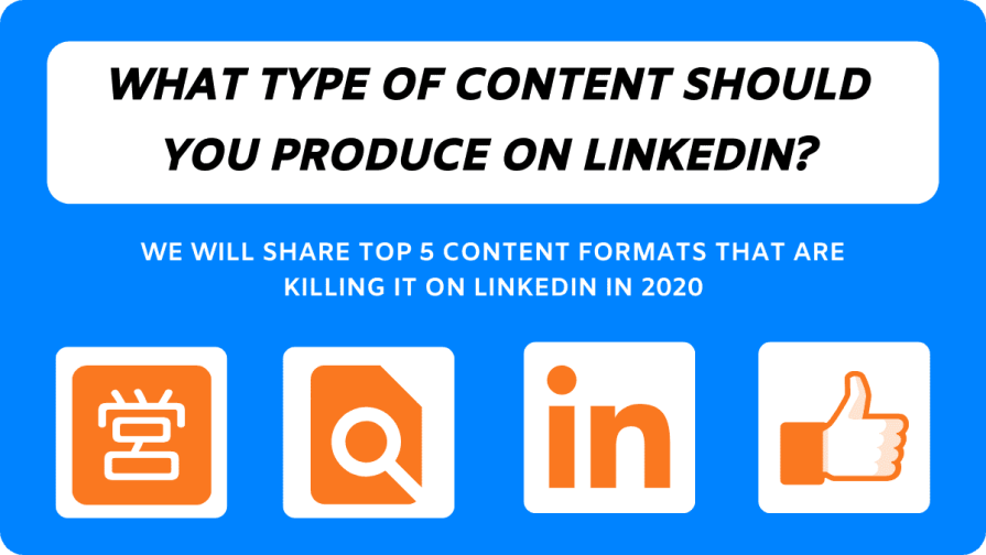 Five content formats that work really well on LinkedIn and can boost you overall reach plus branding.