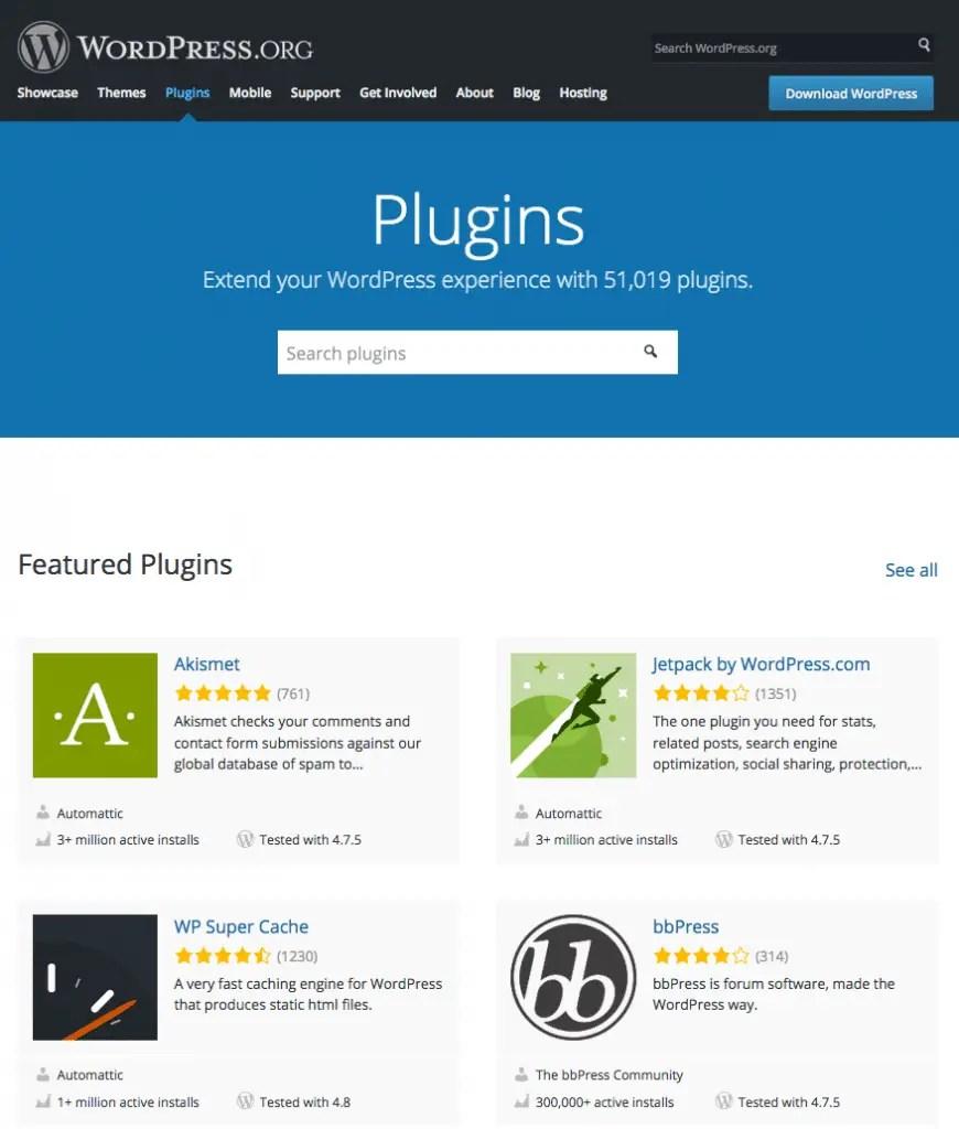 Plugins in WordPress