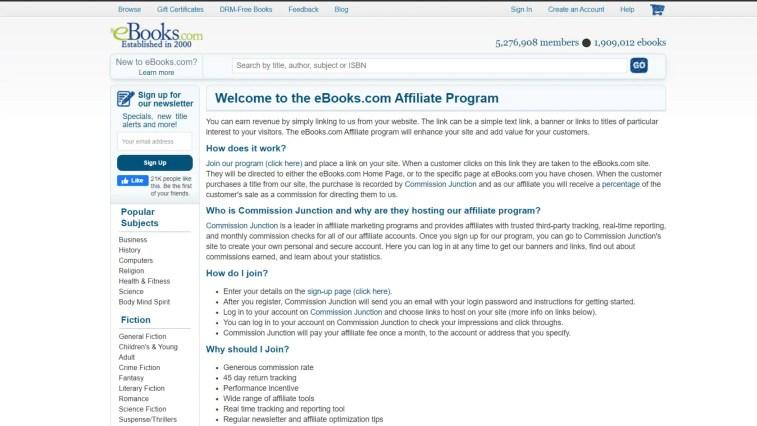e-book Affiliate Programs