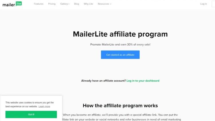 MairlerLite email affiliate program