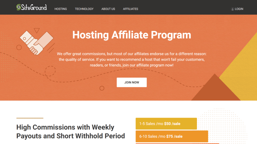 SiteGround: Best Affiliate Programs That Pay Daily
