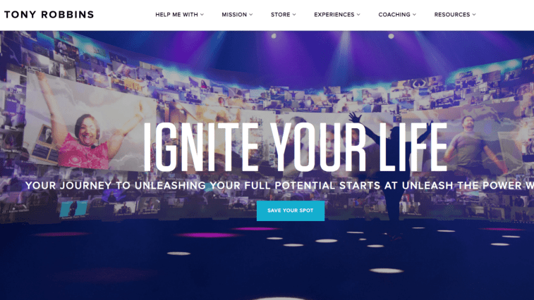 Best Self Help Affiliate Programs: Tony Robbins