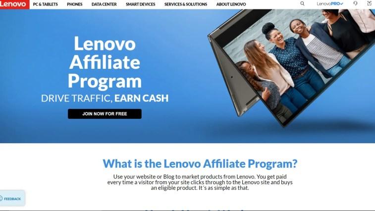 Lenovo affiliate program