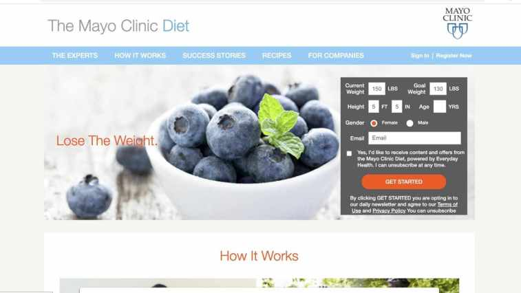 The Mayo Clinic diet affiliate