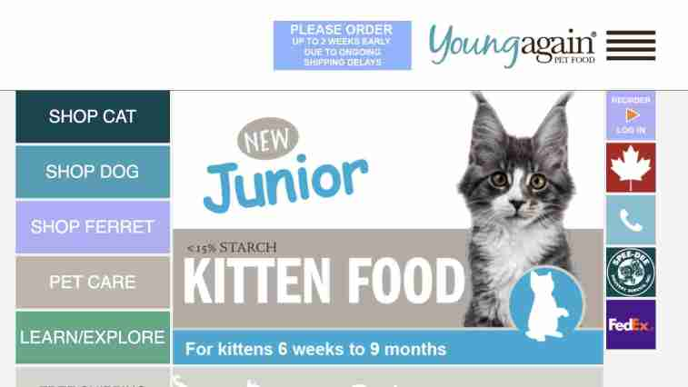 Young Again Pet Food: cat affiliate programs