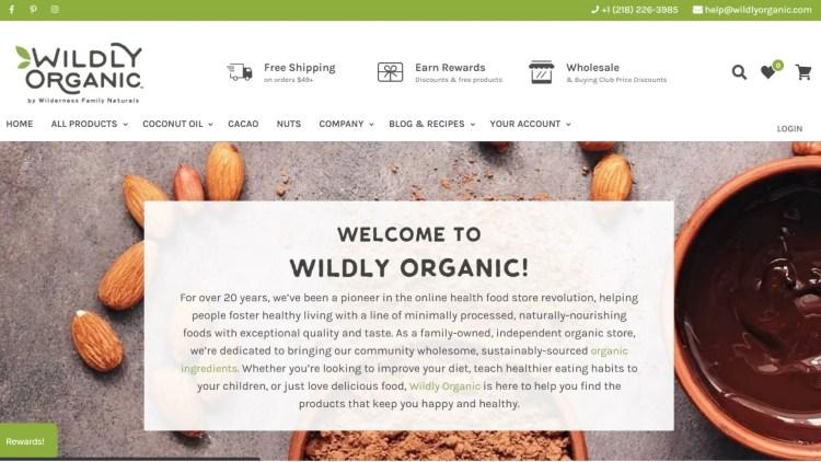 organic food affiliate program: Wildly Organic
