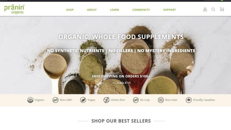 organic food affiliate program: Pranin