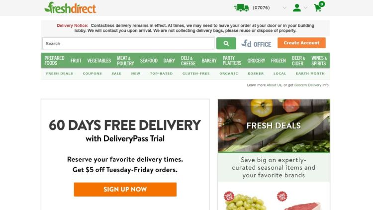 Fresh Direct affiliate program (meal kits)