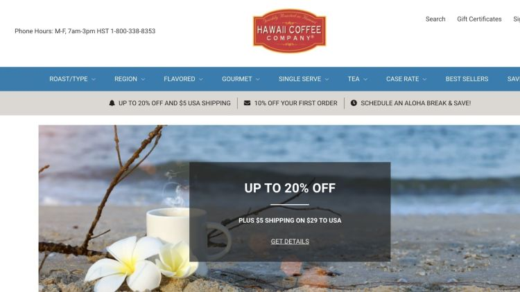 Hawaii Coffee Company Affiliate Program