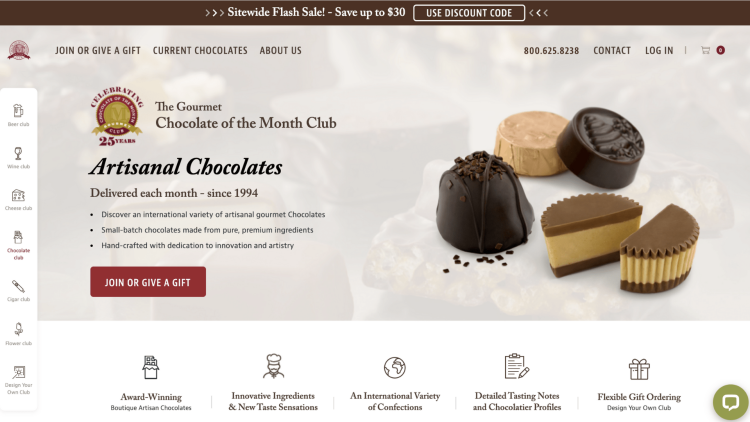 Gourmet Chocolate of the Month affiliate program