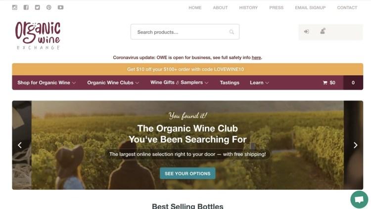 Organic Wine Exchange Affiliate Program