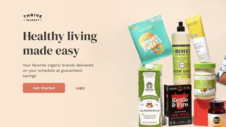 Thrive Market grocery affiliate program