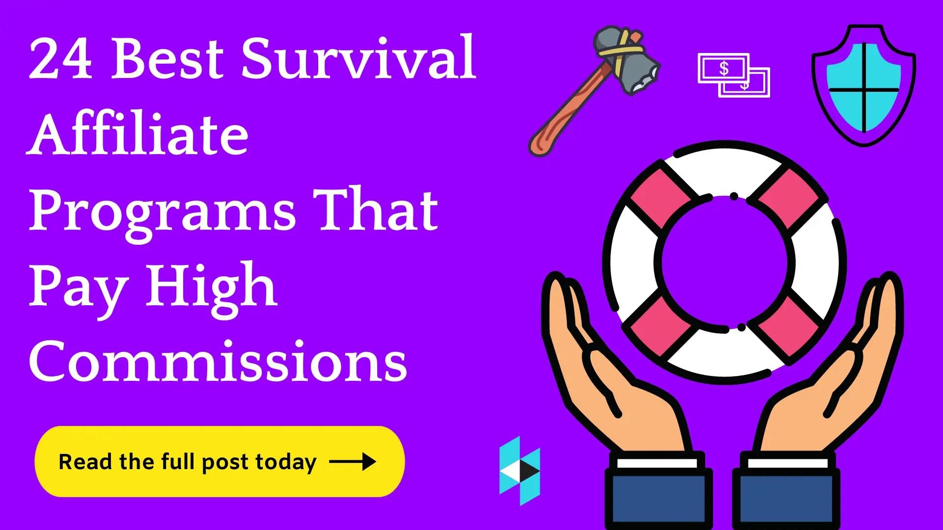 survival affiliate programs