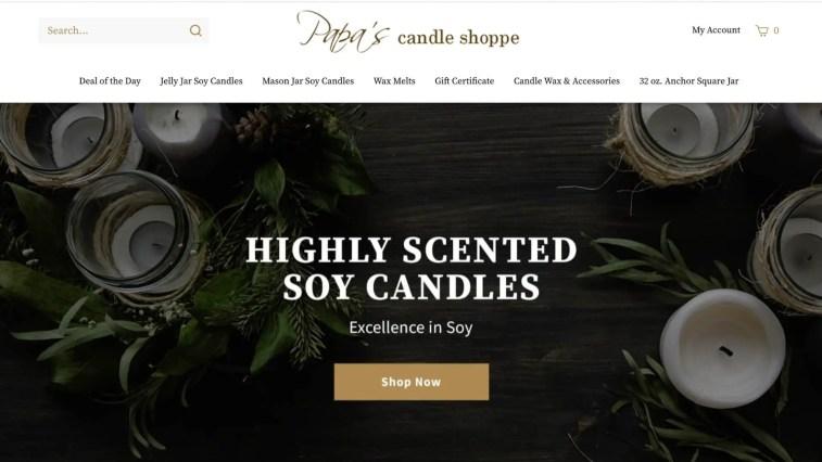 Papa's Candle Shop Affiliate Program