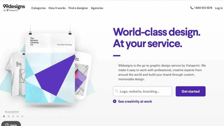 99designs: freelancing site for designers