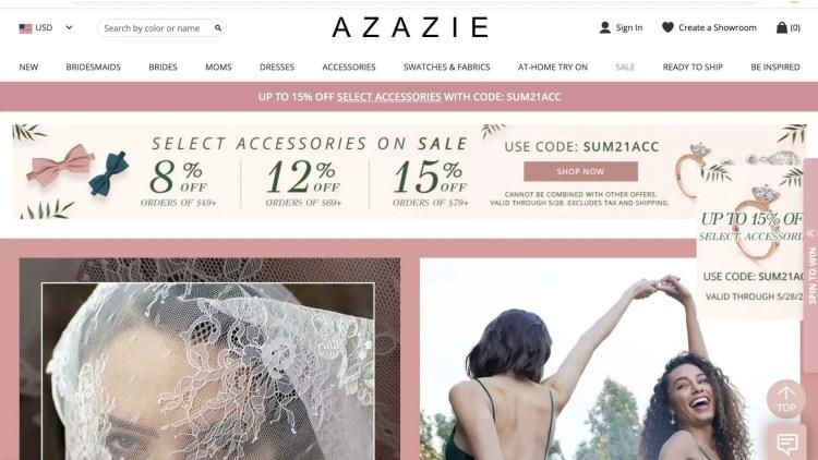 Azazie affiliate program
