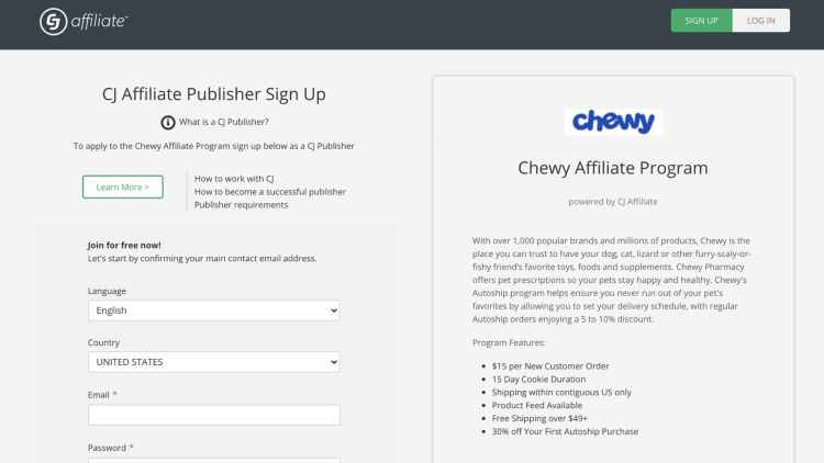 Cj Affiliate and Chewy