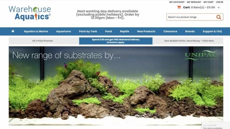 Warehouse Aquatics affiliate program