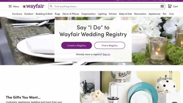 Wayfair Registry affiliate program: bridal and wedding affiliate program