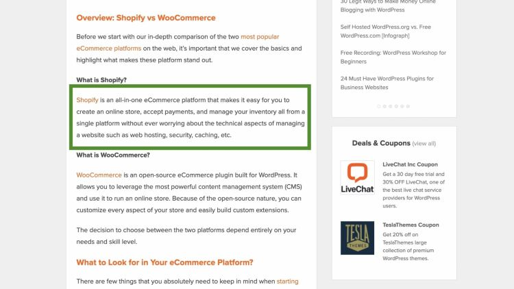 Promoting Shopify through blogging