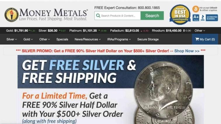 Money Metals luxury affiliate