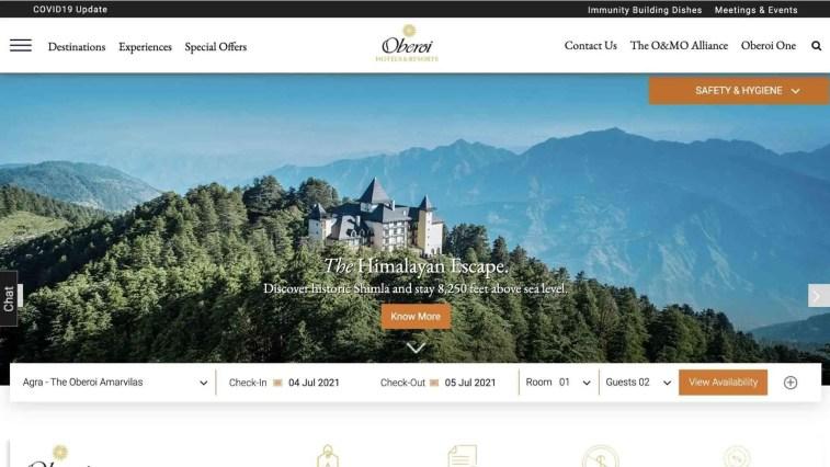 Oberoi Hotels and Resorts affiliate program