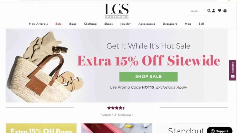 Luxury Garage Sale affiliate program