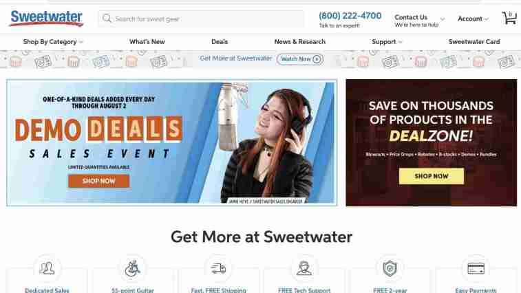 Sweetwater Affiliate Program