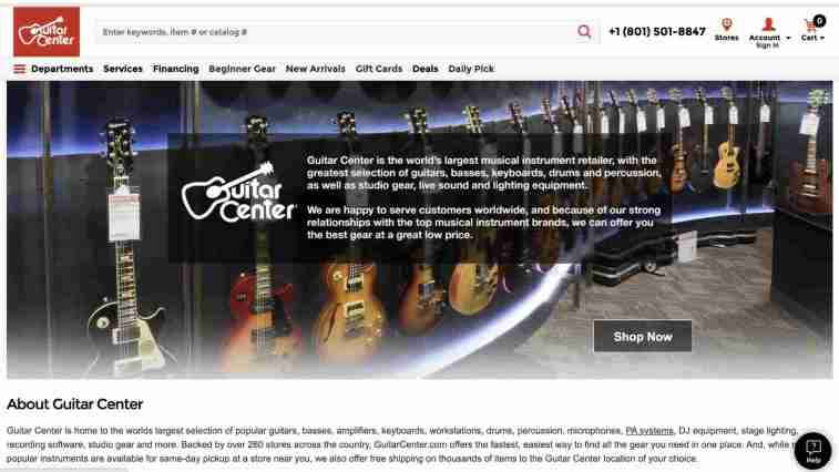 Guitar Center Affiliate Program