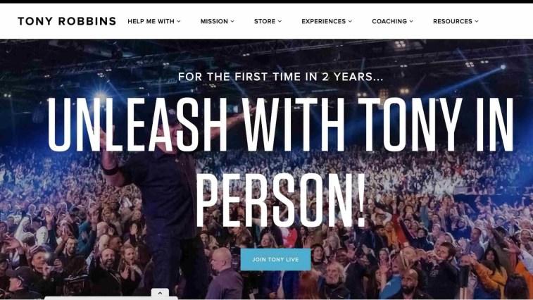 5. Tony Robbins Leadership Affiliate Program