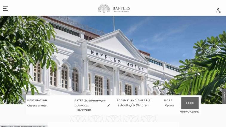 Raffles Luxury Hotels Affiliate Program
