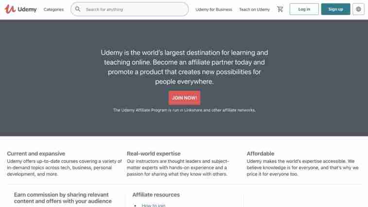 Udemy for leadership affiliate offers