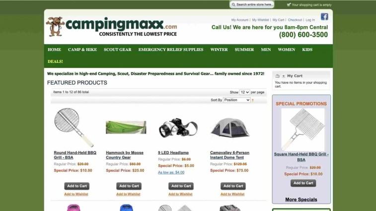 Camping Maxx Affiliate Program