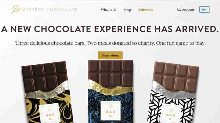 mystery chocolate affiliate