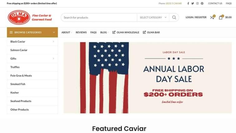 Olma Caviar Affiliate Program
