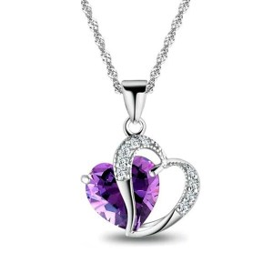 Heart Stone Pendant Necklace Fashion Jewellery