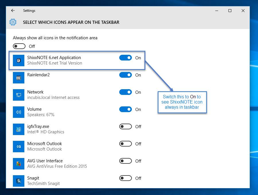 ShixxNOTE on Windows 10 (2/2)
